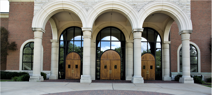 Three Front Doors of Church